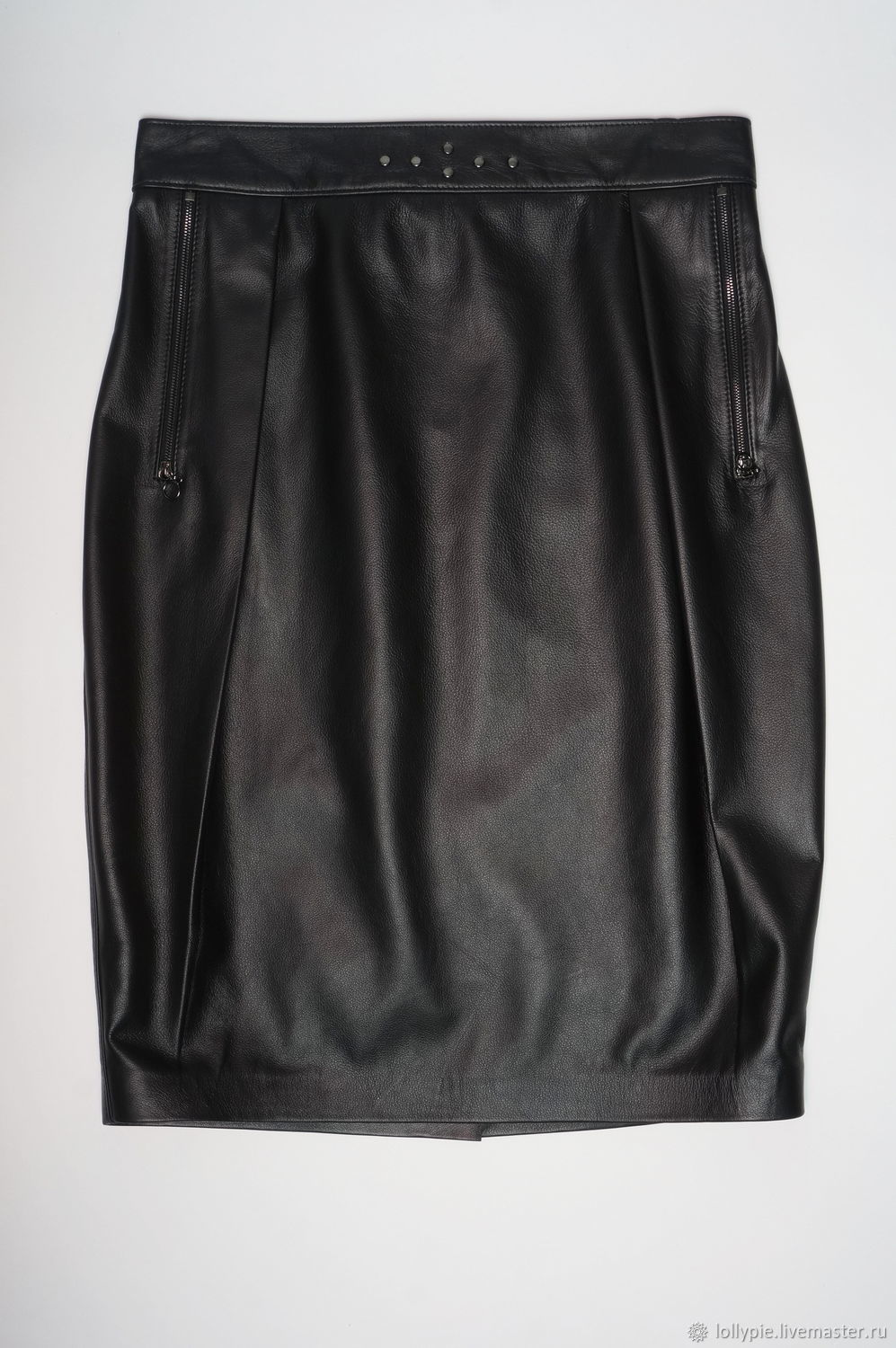 genuine leather skirt with pleats, Skirts, Moscow,  Фото №1