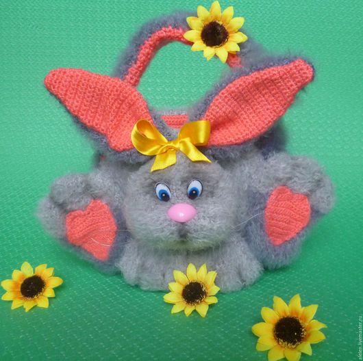 Обучающие материалы ручной работы. Ярмарка Мастеров - ручная работа. Купить Мастер-класс по вязанию крючком. Сумочка-кролик. Handmade.