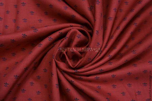 Шитье ручной работы. Ярмарка Мастеров - ручная работа. Купить Ткань сороч. королевская лилия, 120 см, красный. Handmade.