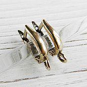 Материалы для творчества handmade. Livemaster - original item Earrings with locking bronze brass (art. 2634). Handmade.