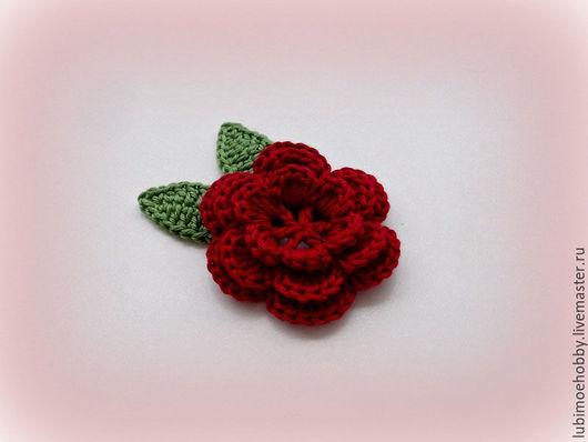 Цветы ручной работы. Ярмарка Мастеров - ручная работа. Купить Цветы вязаные крючком. Handmade. Для декора, аппликации, Аппликация