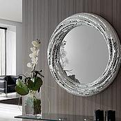 Для дома и интерьера ручной работы. Ярмарка Мастеров - ручная работа Зеркало в мозаичной раме, белое солнце. Handmade.