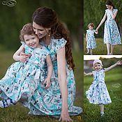 Платья летние Family look для мамы и дочки