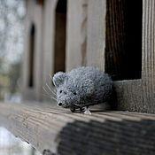 Украшения handmade. Livemaster - original item Mouse Three! Felted brooch!. Handmade.
