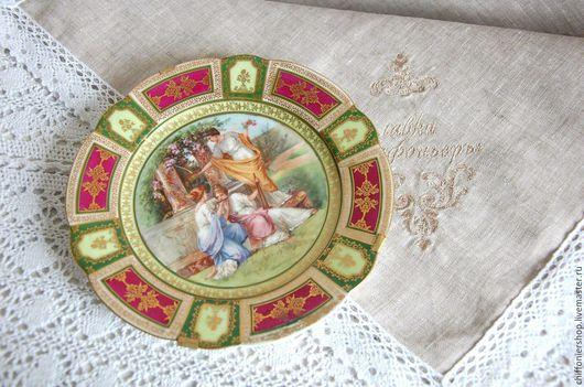 Винтажная посуда. Ярмарка Мастеров - ручная работа. Купить Антикварная тарелка Венская фарфоровая мануфактура. Handmade. Комбинированный, антиквариат, мифология