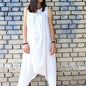 Одежда ручной работы. Ярмарка Мастеров - ручная работа Модный Комбинезон - белый  J0002. Handmade.