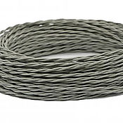 Дизайн ручной работы. Ярмарка Мастеров - ручная работа Провод витой для наружной проводки 2х0,75 серый. Handmade.