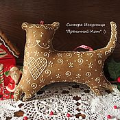 Подарки к праздникам handmade. Livemaster - original item Textile Gingerbread Cat. Handmade.