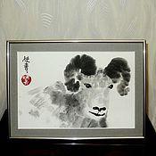"""Картины и панно ручной работы. Ярмарка Мастеров - ручная работа Картина """"Баран"""". Handmade."""