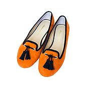 Обувь ручной работы handmade. Livemaster - original item Loafers color Orange. Handmade.