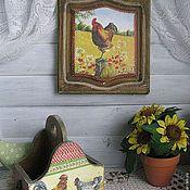 """Картины и панно ручной работы. Ярмарка Мастеров - ручная работа Панно """"Его величество Петух"""". Handmade."""