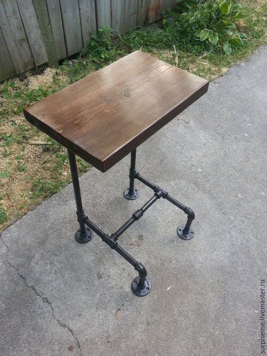 Мебель ручной работы. Ярмарка Мастеров - ручная работа. Купить Высокий деревянный стол стойка. Handmade. Лофт, стол из дерева