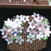 Брошь-булавка ручной работы. Ярмарка Мастеров - ручная работа Брошь Корзинка с цветами. Handmade.