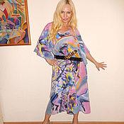 Одежда ручной работы. Ярмарка Мастеров - ручная работа платье- Розовое(Кандинский). Handmade.