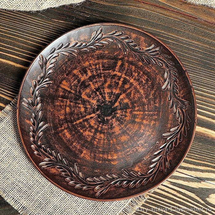 Plate 'Carved pattern' 25cm, Plates, Feodosia,  Фото №1