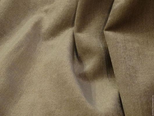 Шитье ручной работы. Ярмарка Мастеров - ручная работа. Купить ткань Бархат хлопок Пудрово-бежевый. Handmade. Бежевый