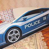 """Мебель ручной работы. Ярмарка Мастеров - ручная работа Детская кровать -машинка  """"Полицейская машина"""" именная.. Handmade."""