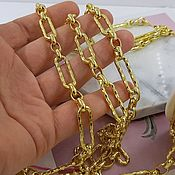 Материалы для творчества handmade. Livemaster - original item 50cm Chain 7,5 mm (thickness) Gold plated (5314). Handmade.