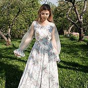 Одежда ручной работы. Ярмарка Мастеров - ручная работа Платье Цветущая вишня. Handmade.