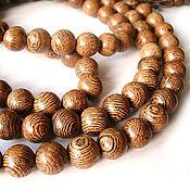 Материалы для творчества handmade. Livemaster - original item Beads tree Wenge family Bean ball 8mm. Handmade.