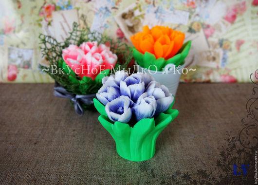 """Мыло ручной работы. Ярмарка Мастеров - ручная работа. Купить Мыло для рук """"Букет тюльпанов"""". Handmade. Тюльпаны, цветок"""