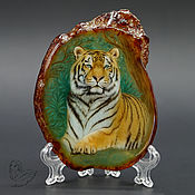 Картины и панно handmade. Livemaster - original item Panel with a painting on a stone