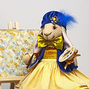 Куклы и игрушки ручной работы. Ярмарка Мастеров - ручная работа Элегантная Зайка - Художница, интерьерная игрушка. Handmade.