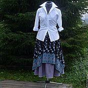 Одежда ручной работы. Ярмарка Мастеров - ручная работа №137 Льняная юбка бохо. Handmade.