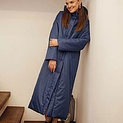 Одежда handmade. Livemaster - original item Insulated down jacket with a hood. Handmade.