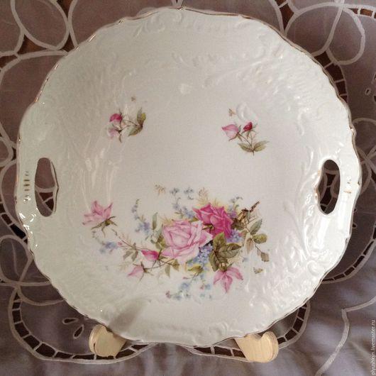 Винтажная посуда. Ярмарка Мастеров - ручная работа. Купить Блюдо Цветы 2. Handmade. Фарфор, антиквариат винтаж, блюда, винтаж