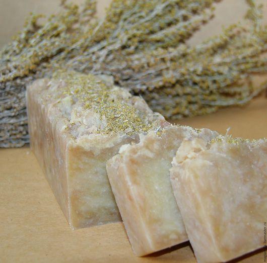 Мыло ручной работы. Ярмарка Мастеров - ручная работа. Купить Полынное мыло натуральное с нуля. Handmade. Оливковый