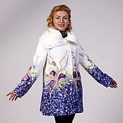 """Одежда ручной работы. Ярмарка Мастеров - ручная работа Пальто белое """"Запах весны"""". Handmade."""