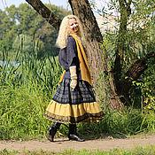 Одежда ручной работы. Ярмарка Мастеров - ручная работа Шерстяная юбка в клетку в стиле бохо. Handmade.