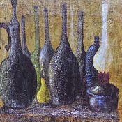 Картины ручной работы. Ярмарка Мастеров - ручная работа Натюрморт на состаренном дереве. Handmade.