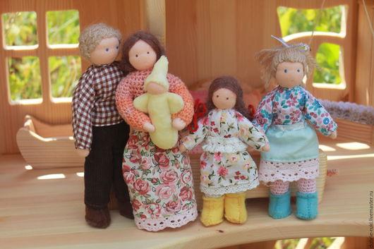 Вальдорфская игрушка ручной работы. Ярмарка Мастеров - ручная работа. Купить Кукольная семья. Handmade. Вальдорфская кукла, развивающие игрушки