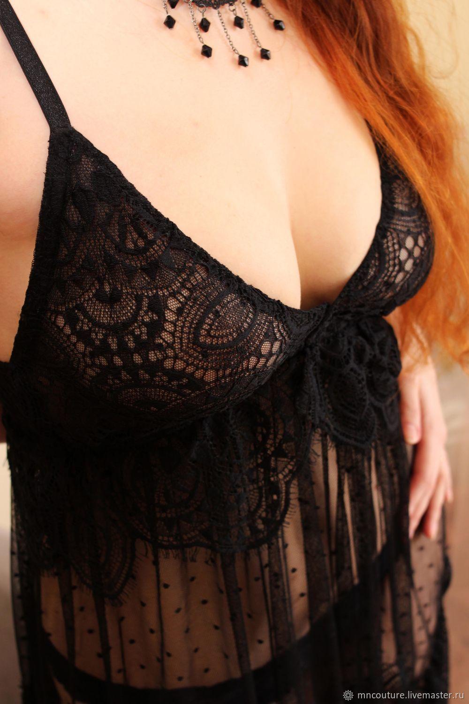 Lace chemise (black), Combination, Czestochowa,  Фото №1