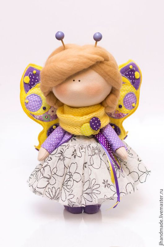 Интерьерная кукла. Бабочка. Ручная работа. Ярмарка Мастеров. Лобанова Юлия.