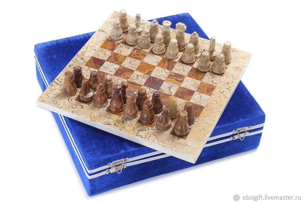 Jasper and Shell stone chess 20, PakShah, Chess, St. Petersburg,  Фото №1