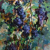 """Картины ручной работы. Ярмарка Мастеров - ручная работа """"Виноград """"картина маслом 60-90 см. Handmade."""