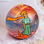 Подарки к праздникам handmade. Livemaster - original item Balloon Christmas box 10cm. the little prince. Wood, painted.. Handmade.