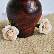 Свадебный салон ручной работы. Ярмарка Мастеров - ручная работа Шпильки с кремовыми розами и перламутром. Handmade.