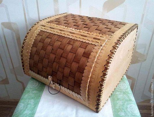 Кухня ручной работы. Ярмарка Мастеров - ручная работа. Купить Хлебница из бересты плетеная пристенная. Handmade. Хлебница, изделия из бересты