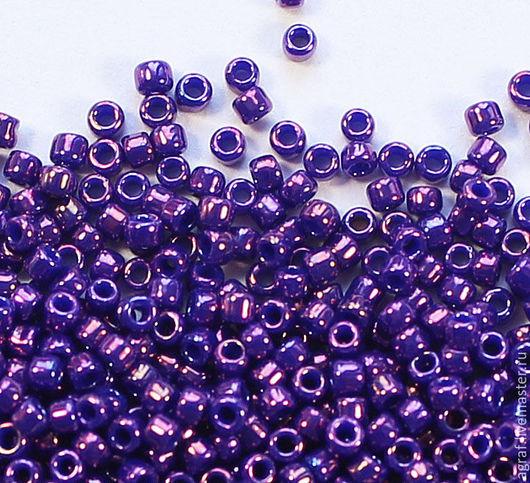 Для украшений ручной работы. Ярмарка Мастеров - ручная работа. Купить Круглый 15/0 TOHO 461 Purple Metallic японский бисер. Handmade.