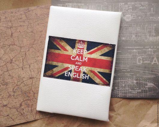 Обложки ручной работы. Ярмарка Мастеров - ручная работа. Купить Обложка на паспорт в британском стиле. Handmade. Белый, Британский флаг