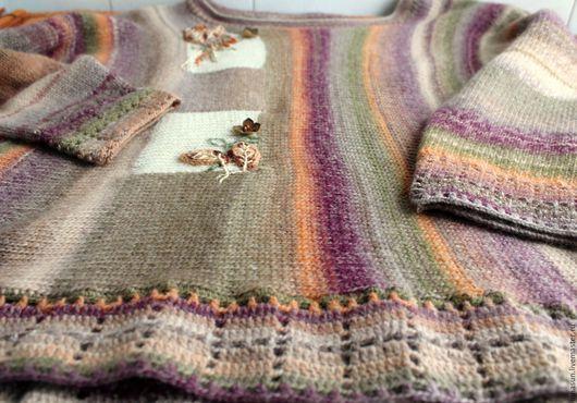 Кофты и свитера ручной работы. Ярмарка Мастеров - ручная работа. Купить Бохо джемпер Сухоцвет. Handmade. Бежевый, кантри