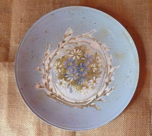 """Подарки на Пасху ручной работы. Ярмарка Мастеров - ручная работа. Купить """"Светлая Пасха"""" стеклянная тарелка. Handmade. Разноцветный, тарелка"""