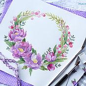 """Дизайн и реклама ручной работы. Ярмарка Мастеров - ручная работа Логотип """"Лиловые цветы"""". Handmade."""