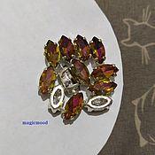 handmade. Livemaster - original item 1pc Czech rhinestones 10h5mm Volcano Navette Czech rhinestones in DAC. Handmade.