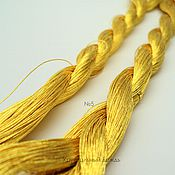 №5 Японские нитки, желтое золото