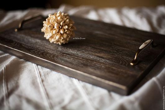 """Кухня ручной работы. Ярмарка Мастеров - ручная работа. Купить Деревянный поднос """"Абердин"""". Handmade. Поднос, поднос для завтрака"""